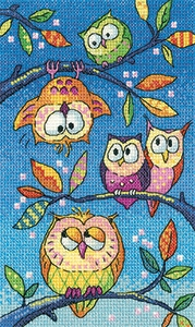 click here to view larger image of Hanging Around - Birds Of A Feather (27ct) (counted cross stitch kit)