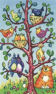click here to view larger image of Bird Watching - Birds Of A Feather (Aida) (counted cross stitch kit)