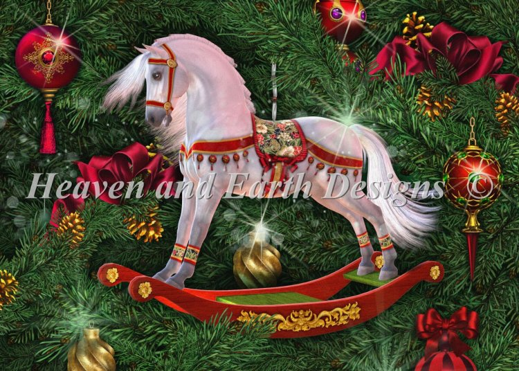 click here to view larger image of Christmas Rocking Horse (chart)