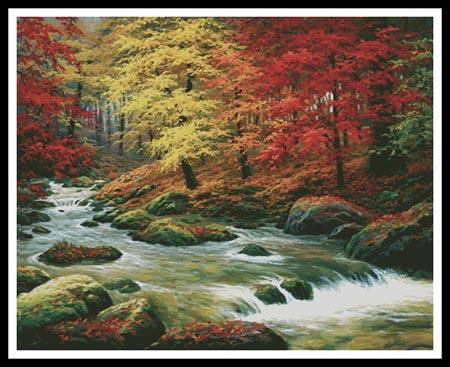 click here to view larger image of Autumn In Boulder Creek (Large)  (Charles White) (chart)