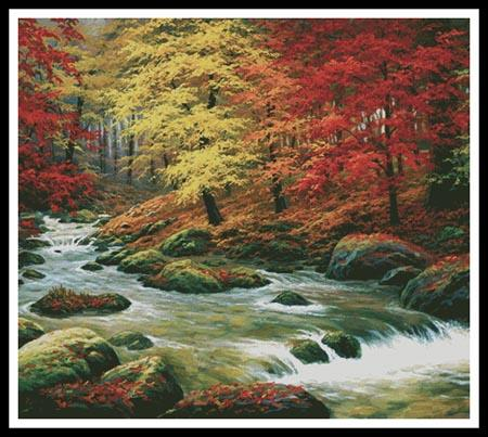 click here to view larger image of Autumn In Boulder Creek (Cushion) (chart)