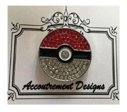 click here to view larger image of Pokemon Ball Glamorous Magnet (accessory)