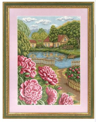 click here to view larger image of C-1166 Peonies in Bloom (counted cross stitch kit)