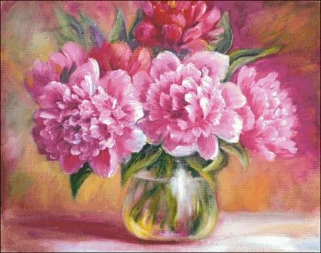 click here to view larger image of Peonies In A Vase (chart)