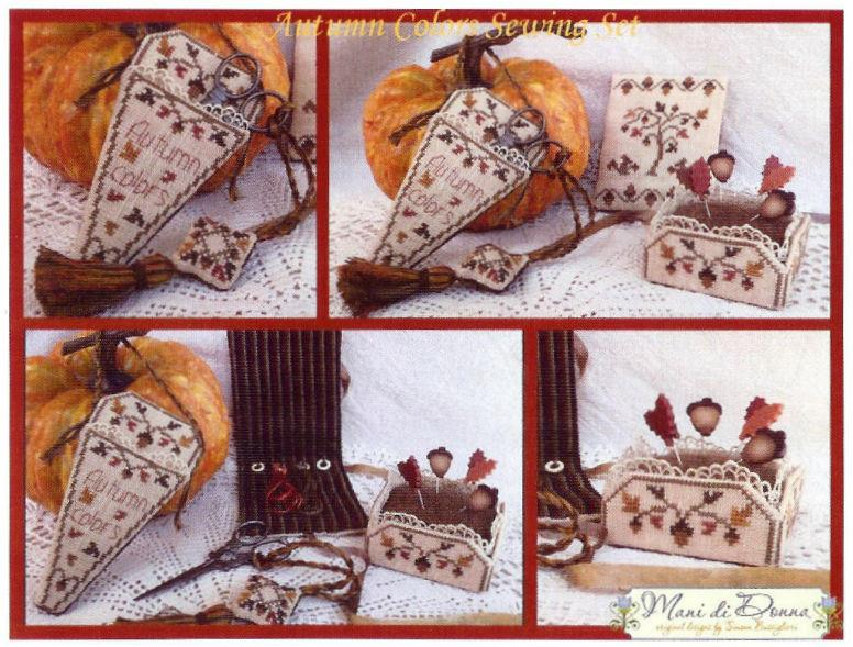 click here to view larger image of Autumn Colors Sewing Set (chart)