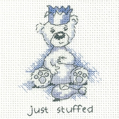 click here to view larger image of Just Stuffed - Justin Bear Cards (counted cross stitch kit)