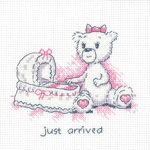 click here to view larger image of Just Arrived - Justin Bear Cards (counted cross stitch kit)