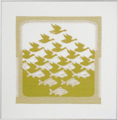 click here to view larger image of Bird/Fish Lime (counted cross stitch kit)