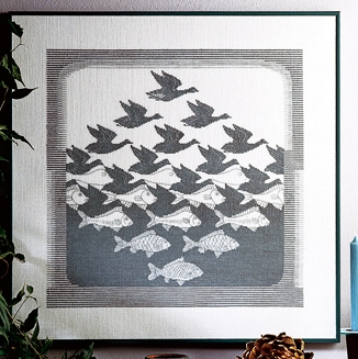 click here to view larger image of Bird/Fish Aida (counted cross stitch kit)