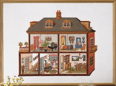 click here to view larger image of Doll House (counted cross stitch kit)