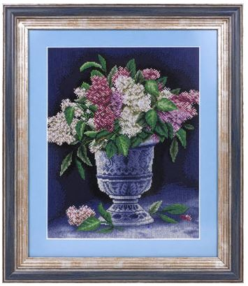 click here to view larger image of C-1110 Bunch of Lilacs (counted cross stitch kit)