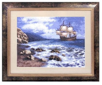 click here to view larger image of MT-1114 Ship at Sea, A (counted cross stitch kit)