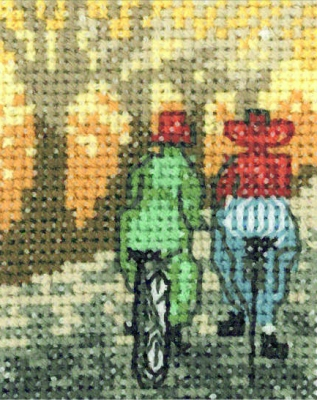 click here to view larger image of Bicycling (counted cross stitch kit)