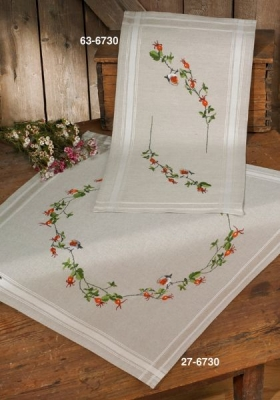 click here to view larger image of Robin - Table Runner (stamped cross stitch kit)