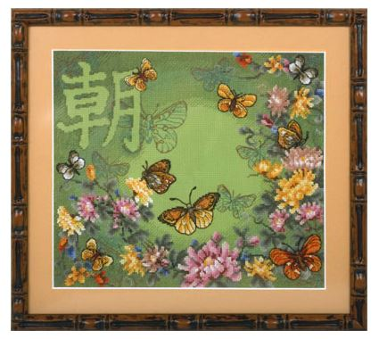 click here to view larger image of B-1060 Butterfly Dance (counted cross stitch kit)