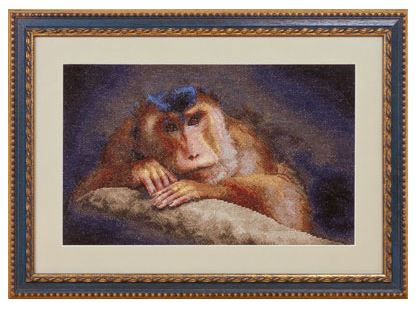 click here to view larger image of J-1085 Thinker (counted cross stitch kit)