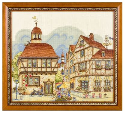 GM-1027 Prosperous Town - click here for more details about counted cross stitch kit