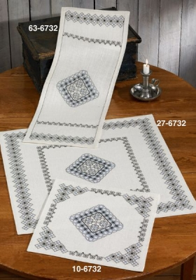 click here to view larger image of Blackwork Inspiration - Table Cloth (counted cross stitch kit)