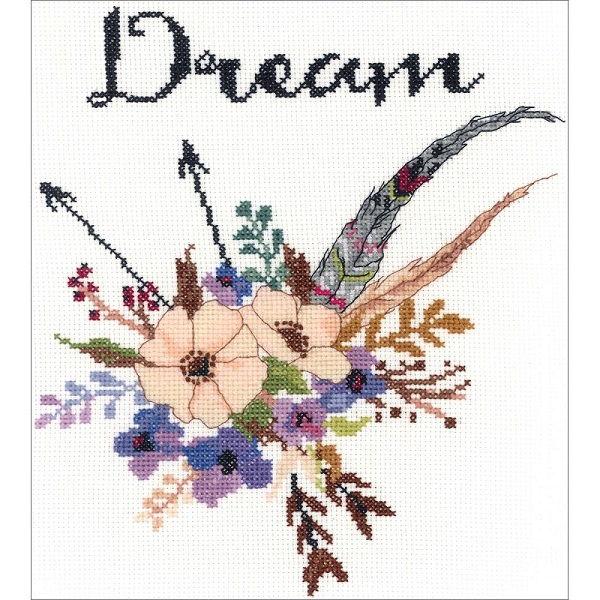 click here to view larger image of Watercolor Flowers Dream (counted cross stitch kit)