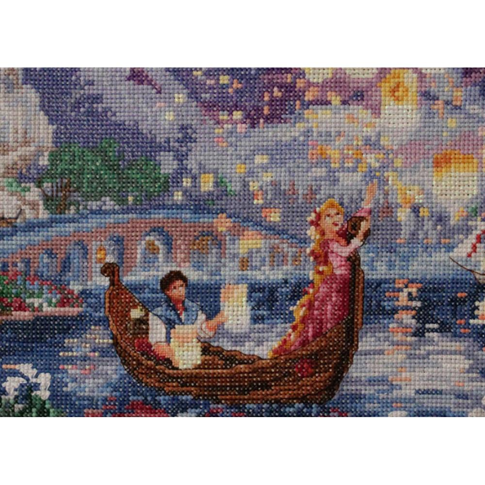 click here to view larger image of Tangled Vignette - Disney Dreams Collection (counted cross stitch kit)