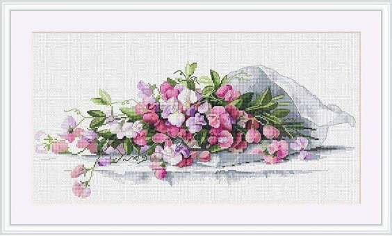 click here to view larger image of Sweet Pea (counted cross stitch kit)