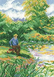 click here to view larger image of Days Fishing, A - Memories (Evenweave) (counted cross stitch kit)