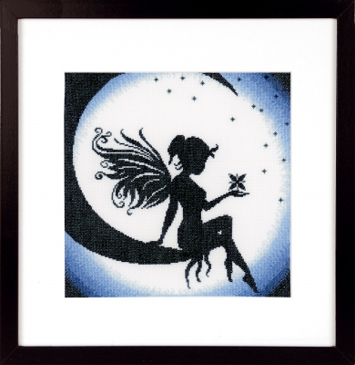 click here to view larger image of Fairy On The Moon (counted cross stitch kit)