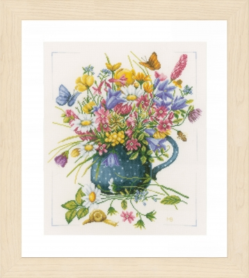 click here to view larger image of Flowers In Vase (counted cross stitch kit)