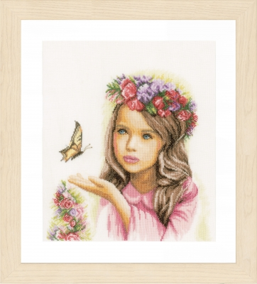 click here to view larger image of Angel With Butterflies (counted cross stitch kit)