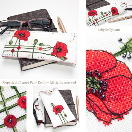 click here to view larger image of Poppy Glasses Case (chart)