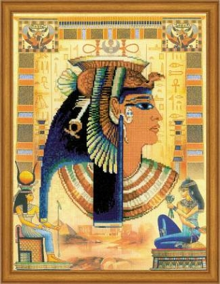 click here to view larger image of Cleopatra (stamped cross stitch kit)