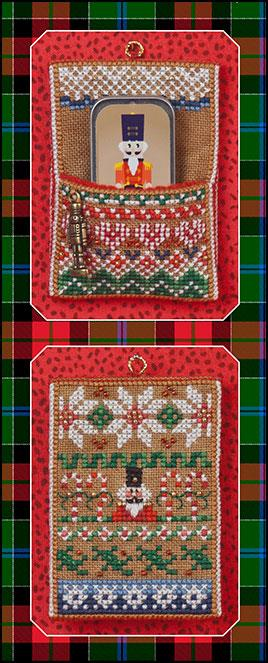 click here to view larger image of Nutcracker Slide Pocket, Mini Needle Slide, and Embellishments (chart with charms/buttons)