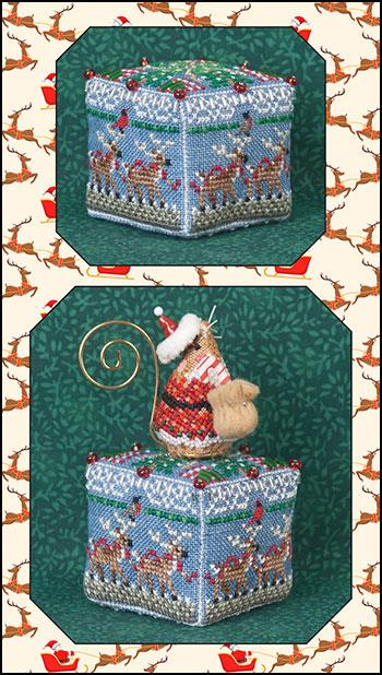 click here to view larger image of 8 Tiny Reindeer Cube and Embellishments (chart with charms/buttons)