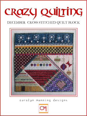 click here to view larger image of Crazy Quilting - December Block (chart)