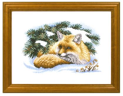 click here to view larger image of J-0893 Little Fox (counted cross stitch kit)