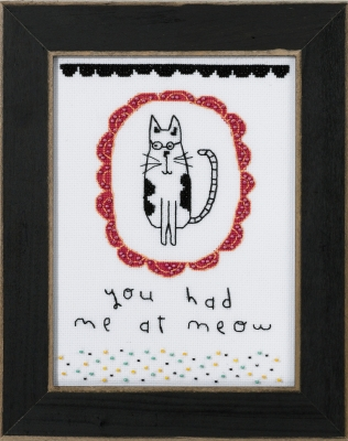 click here to view larger image of You Had Me At Meow - Amylee Weeks (counted cross stitch kit)
