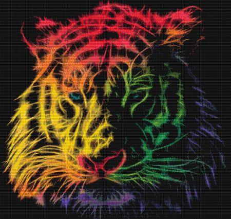 click here to view larger image of Fractalius Rainbow Tiger (chart)