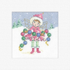 click here to view larger image of Fairy Chain - Christmas Cards (counted cross stitch kit)