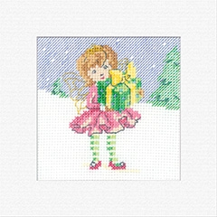 click here to view larger image of Fairy - Christmas Cards (counted cross stitch kit)