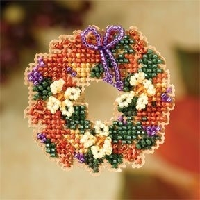 click here to view larger image of Fall Wreath (2007) (counted cross stitch kit)