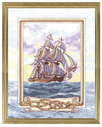click here to view larger image of KR-0949 Ship of Dreams, The (counted cross stitch kit)