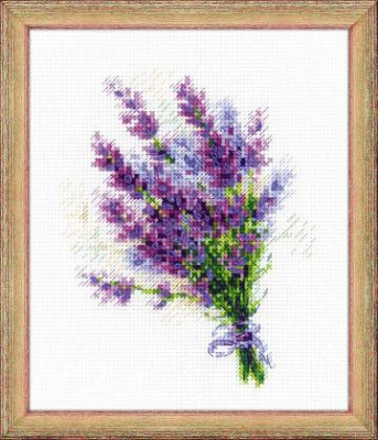 click here to view larger image of Bouquet With Lavender (counted cross stitch kit)