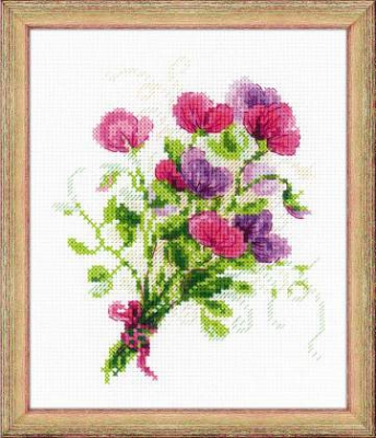click here to view larger image of Bouquet With Sweet Peas (chart)