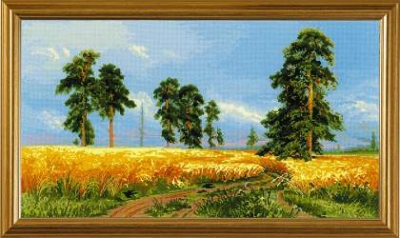 click here to view larger image of A Rye Field after I. Shishkins Painting (counted cross stitch kit)