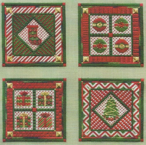 click here to view larger image of Holiday Ornaments - Series 3 (counted canvas chart)
