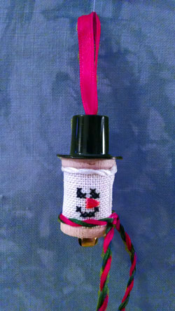 click here to view larger image of Snowman Spool (counted cross stitch kit)