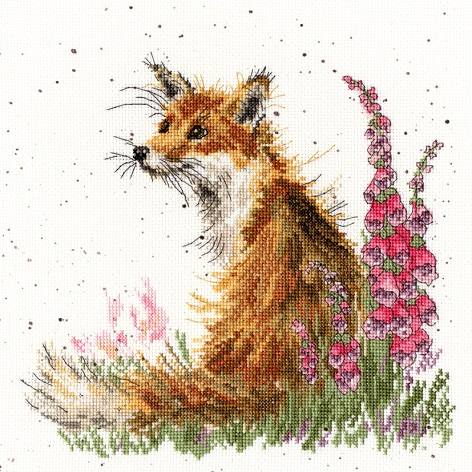 click here to view larger image of Amongst The Foxgloves - Hannah Dale (counted cross stitch kit)