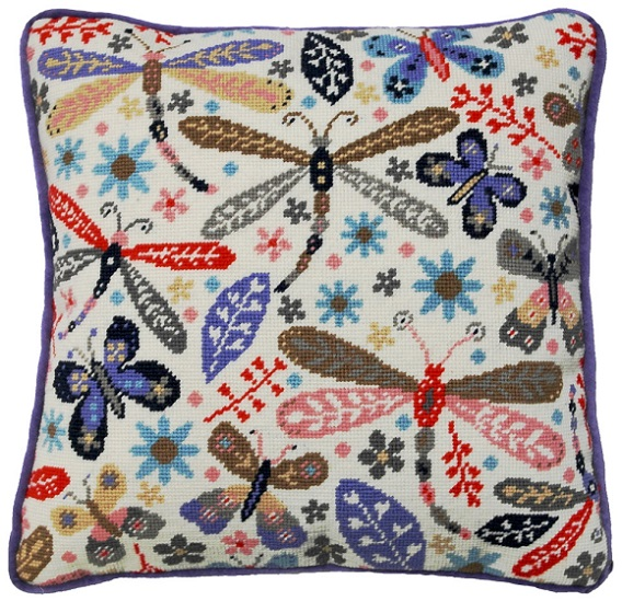 click here to view larger image of Dragonflies Tapestry (needlepoint)
