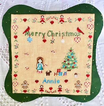 click here to view larger image of All Children Love Christmas - Girl (chart with charms/buttons)