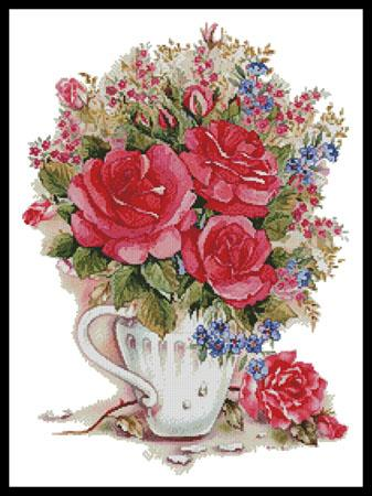 click here to view larger image of Pink Floral Arrangement (chart)